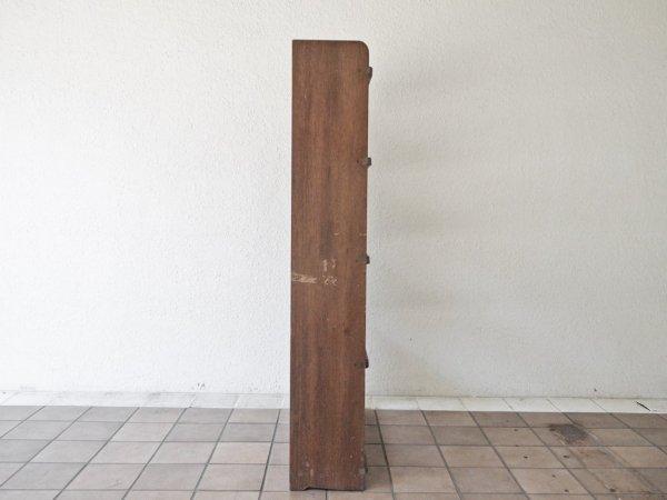 ジャパンビンテージ Japan Vintage 木味 ブックシェルフ 5段 オープンシェルフ 本棚 飾り棚 古家具 店舗什器 ◇