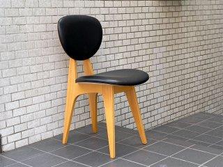 イデー IDEE ダイニングチェア DINING CHAIR 長大作 ブラック PVCレザー 食卓椅子 ジャパニーズモダン A ■