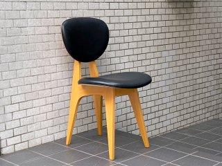 イデー IDEE ダイニングチェア DINING CHAIR 長大作 ブラック PVCレザー 食卓椅子 ジャパニーズモダン B ■