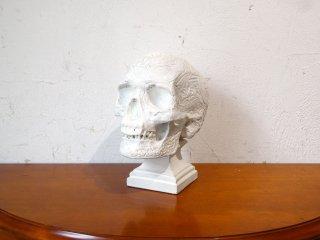 アート&コマースプロモート ATR&COMMERCE PROMOTED メダル付 アートスカル ART Skull 石膏 彫像 頭骨モチーフ ホームデコ ★