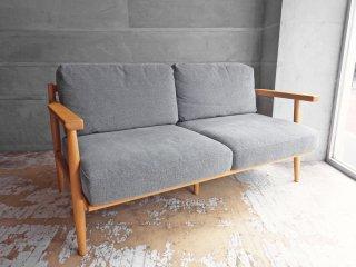 シーヴ SIEVE ハーフ 2人掛けソファ half sofa 2 seater グレー ファブリック オーク無垢材 フレーム ナチュラル 北欧スタイル 参考価格:91,300円 ♪