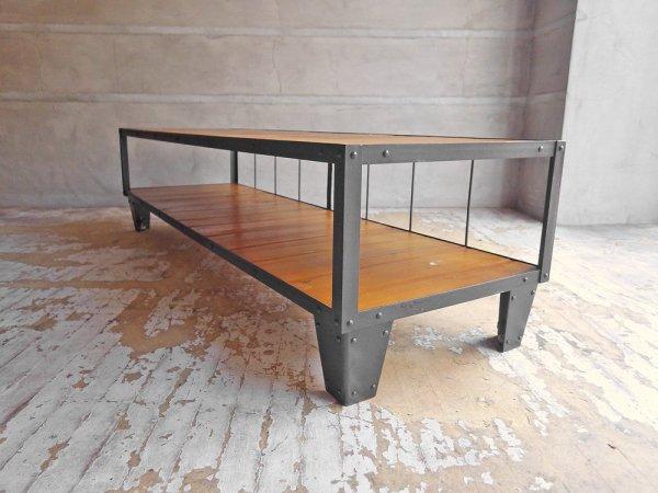 ジャーナルスタンダードファニチャー Journal Standard Furniture カルビ テレビボード CALVI TV BOARD L パイン材 × アイアン 現行定価:69,300円 ♪