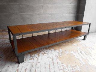 ジャーナルスタンダードファニチャー Journal Standard Furniture カルビ テレビボード CALVI TV BOARD L オーク無垢材 × アイアン 定価:69,300円 ♪