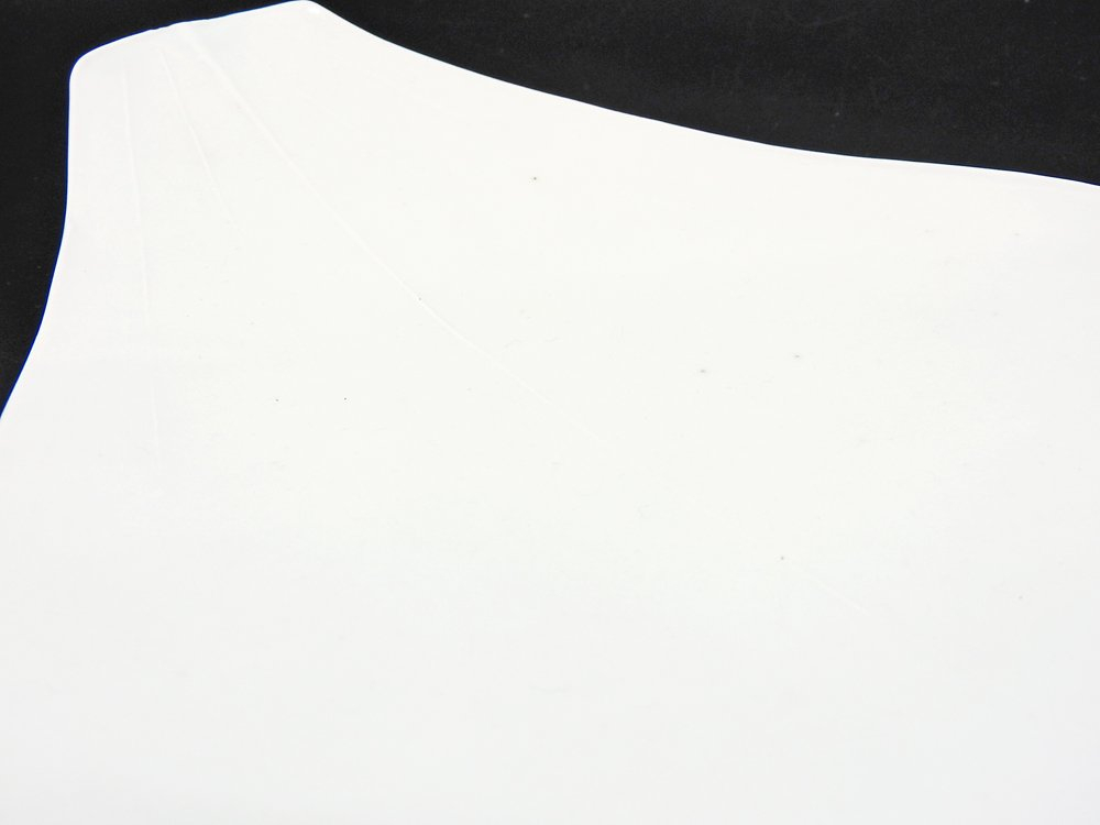 森岡由利子 白磁 リーフプレート 葉型 皿 大 W22cm 現代作家 ●