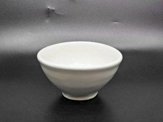 森岡由利子 白磁 中鉢 碗 ボウル Φ13.5cm 現代作家 ●