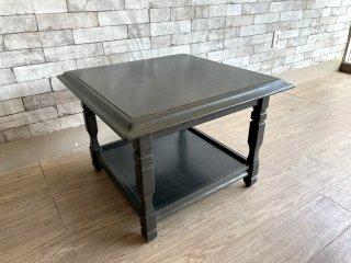 ビンテージ Vintage オーク材 スクエア センターテーブル ローテーブル スライド天板付き クラシカルデザイン ●