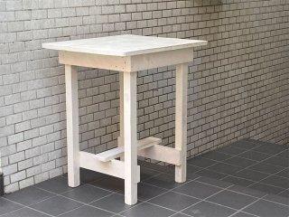 温故知新 スキップ ア ビート ガーデン Skip a Beat Garden 木製 デスク テーブル シャビーシック ホワイトペイント ■