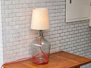 ビンテージ Vintage リメイクランプ アンティークシェード × ビンテージボトル  テーブルランプ フロアライト ■