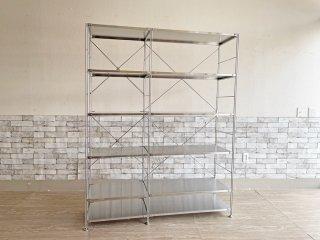 無印良品 MUJI ステンレスユニットシェルフ ステンレス棚 大 オープンシェルフ 2列 定価¥52,800- ●