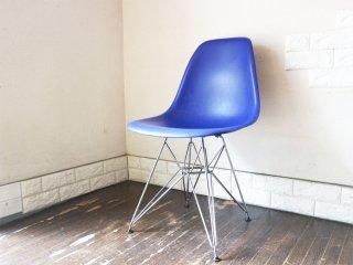 ヴィトラ vitra サイド シェルチェア ポリプロピレン製 ブルー エッフェルベース C&R イームズ Eames ミッドセンチュリー 現状品 ◎