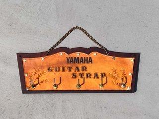 ジャパンビンテージ Japan Vintage ヤマハ YAMAHA ストラップホルダー ウォールフック レザー 販促品 什器 ■
