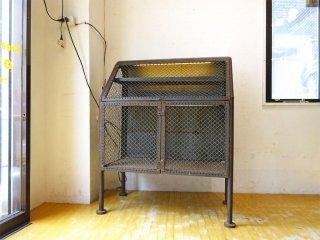 インダストリアル アイアン ワイヤー ディスプレイケース キャビネット Industrial Iron Wire Display case cabinet ★