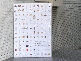 センチュリーオブダニッシュライティング A CENTURY OF DANISH LIGHTING ポスター 額装 北欧照明 デンマーク ■