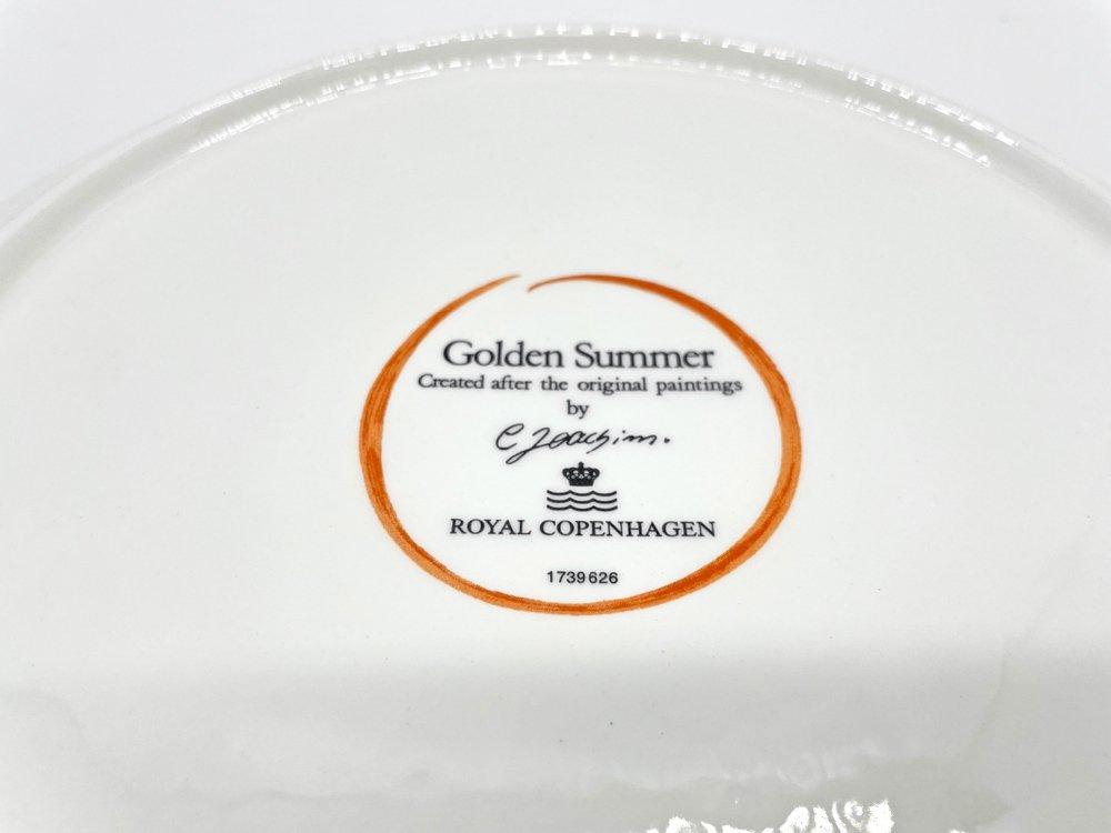 ロイヤルコペンハーゲン Royal Copenhagen ゴールデンサマー Golden Summer 26cm プレート 北欧食器 ●