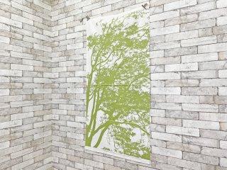 マリメッコ marimekko トゥーリ TUULI ライトグリーン ファブリック 75×145 生地 マイヤ・イソラ Maija Isola ●