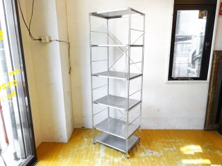 無印良品 MUJI ステンレス ユニット シェルフ S-SUS スリム 幅58cm × 高さ 175cm 5段+追加棚1枚 ★