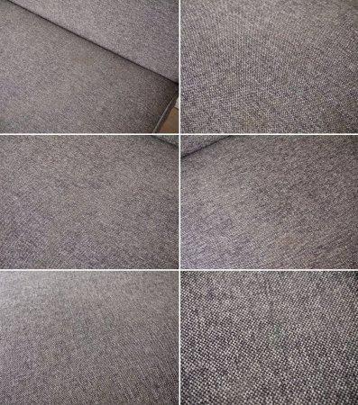 ウニコ unico ロイ ROY 2人掛けソファ ブラウン ファブリック ウォールナット脚 北欧ビンテージスタイル 廃番品 ◇
