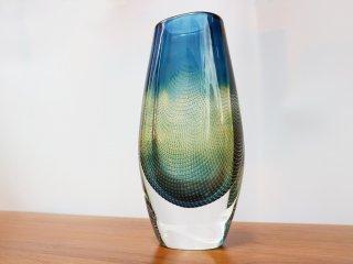 オレフォス Orrefors フラワーベース Kraka ガラス 花瓶 スヴェン・パルムクヴィスト スウェーデン ビンテージ 希少 ◎