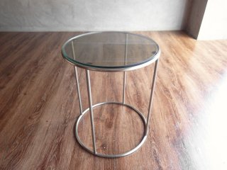 アルフレックス arflex トンド TONDO ラウンドコーヒーテーブル スモークガラス Φ40cm イタリア モダンデザイン 参考価格:102,600円 ♪