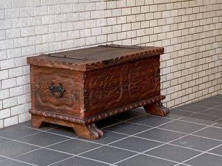 ジャパンビンテージ Japan Vintage ブランケットボックス 和モダン 昭和レトロ 古家具 ■