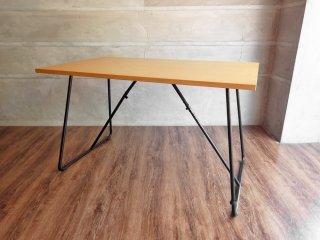 無印良品 MUJI 折りたたみテーブル 幅120cm オーク材 フォールディングテーブル ダイニングテーブル ワークテーブル ♪