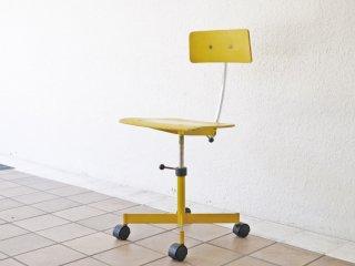 Kettel&Villadsen ビンテージ ケヴィチェア KEVI Chair 4本脚 イエロー ヨルゲン・ラスムセン 北欧 デンマーク 希少品 ◇