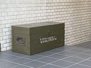 ビンテージ ウッドボックス メディカルボックス フットロッカー ブランケットボックス ミリタリー 軍物 ディスプレイ ■