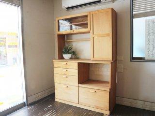 モモナチュラル momo natural ヴィボ VIBO キッチンボード KD BOARD 1200 カップボード 食器棚 アルダー材 定価¥127,000- ◎