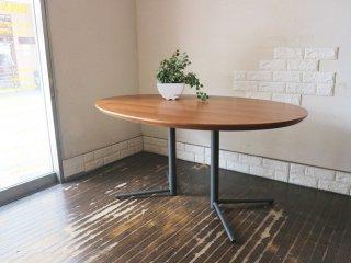 アクタス ACTUS オウン エフ OWN-F ビッグサイドテーブル オーバル ダイニングテーブル ウォールナット × スチール ブラック 定価¥82,500- ◎