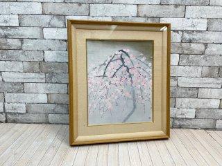 奥村土牛 リトグラフ 薄紅梅 日本画 額装品 ●