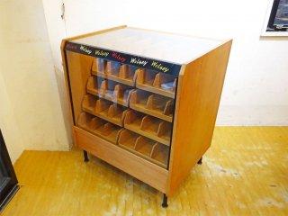 UKビンテージ ウォルシー ショップディスプレイケース Wolsey sox display shop counter 店舗什器 カウンター ★