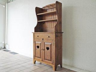 アメリカン カントリーデザイン American country design パイン材 カップボード オープンシェルフ 食器棚 ◇