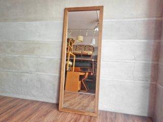 サカベ SKB マノ MANO アンティークジャンボミラー ダークブラウン アンティークスタイル 姿見 立て掛け式 定価11,090円 ♪