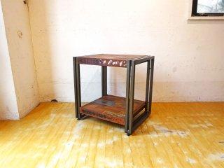 ディーボディ d-Bodhi フェルム FERUM インダストリアル サイドテーブル アイアンフレーム オランダ ASPLUND取扱 定価¥46,200-★