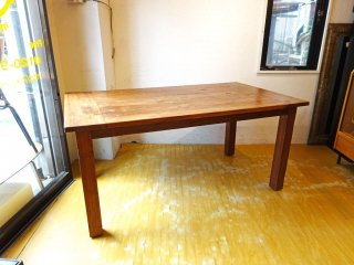 クレイト&バレル Crate&Barrel 古材無垢 ダイニングテーブル Dining table 幅160cm US家具 ★