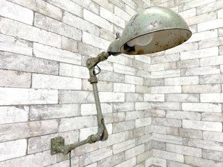 USビンテージ US vintage 3アーム ウォールランプ マシンランプ 壁付け インダストリアル 工業系 ●