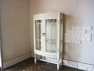 青山 キノ kino ガラス キャビネット White Glass Cabinet コレクションケース 飾り棚 定価約13万円 ◎