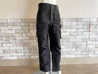 エンジニアドガーメンツ Engineered Garments カーゴパンツ FA Pant コットンリップストップ Cotton Ripstop ブラック メンズ Sサイズ ミリタリー USA製 ●