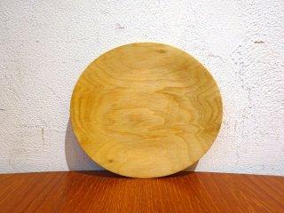 須田二郎 木製の器 ミニプレート 14.5cm 無垢材 木工旋盤 ターニングウッド 小皿 和菓子皿 インテリア オブジェ ★