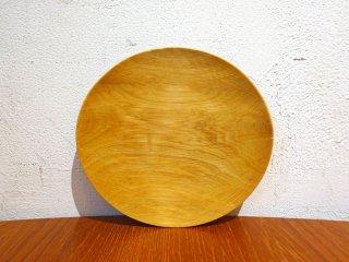 須田二郎 木製の器 ミニプレート 15.5cm 無垢材 木工旋盤 ターニングウッド 小皿 和菓子皿 インテリア オブジェ ★