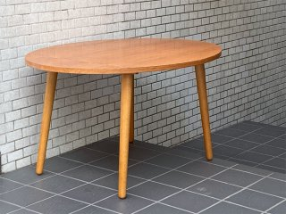 ウニコ unico アルベロ ALBERO カフェテーブル オーバルトップ チーク材 北欧ビンテージスタイル 廃盤 ■