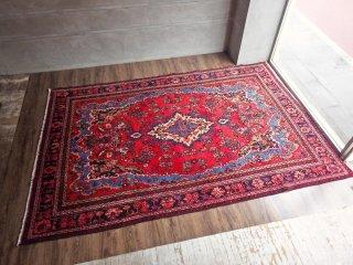 トライバル ラグ バクティアリ ペルシャ絨毯 特大 植物文様 ボタニカル 300×200 イラン 手織り♪