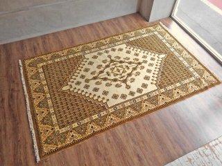 トライバル ラグ 北アフリカ絨毯 部族 民族 絨毯 大型 260×160 チュニジア 幾何学文様 手織り ♪