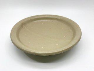 森岡 成好 大皿 プレート 直径21.5cm 粉引 陶芸家 現代作家 ●