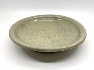 森岡 成好 大皿 プレート 直径24cm 粉引 陶芸家 現代作家 ●
