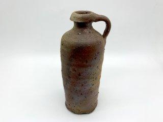 森岡 成好 花器 花瓶 フラワーベース 高さ20.5cm 南蛮焼締 陶芸家 現代作家 ●