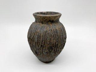 小野 象平 花器 花瓶 フラワーベース 高さ14cm 陶芸家 現代作家 ●