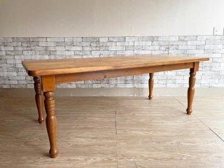 カントリースタイル Country Style パイン無垢集成材 ダイニングテーブル ナチュラル W180cm ●