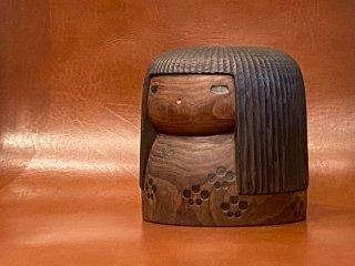 山中三平 こけし 創作こけし 木彫り 日本人形 伝統工芸 置物 民藝 ■