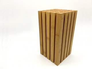 テオリ TEORI 竹集成材 ナイフスタンド 包丁立て 直型 定価¥16,500- ●